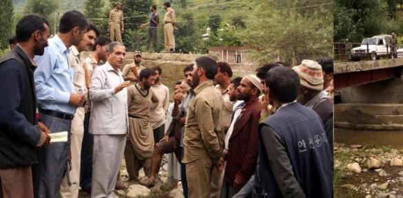 Mir tours Tangmarg Constituency, takes stock of development works