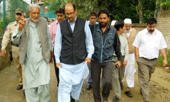 Nasir visits Amirakadal Constituency takes stock of developmental works