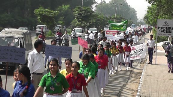 Human Chain Formation and Peace Walk in Jammu; On International Peace Day