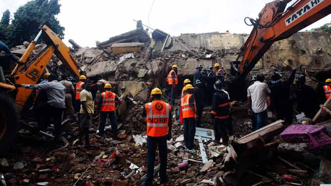 Mumbai building collapse toll 61; proprietor arrested