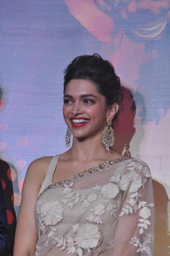 Bollywood actress Deepika Padukone during the trailer launch of film Ram Leela in Mumbai on September 16, 2013. (Photo: IANS)