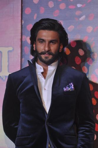 Bollywood actor Ranvir Singh during the trailer launch of film Ram Leela in Mumbai on September 16, 2013. (Photo: IANS)
