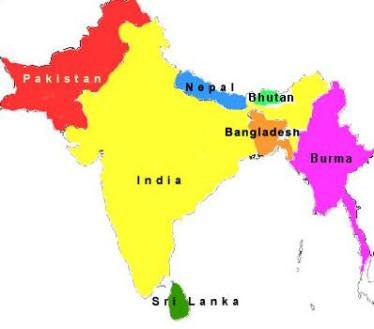 India or bangladesh hapless people in search of an identity and bangladesh india pakistan south asia map gumiabroncs Gallery