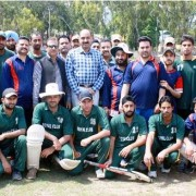 Cricket match organized in Poonch between the tams of Media Eleven & Police Eleven (3)