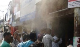 Dental Clinic gutted in fire in Gandhi Nagar