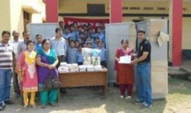 ARMY DISTRIBUTES FURNITURE AND BOOKS TO GOVT SCHOOLS