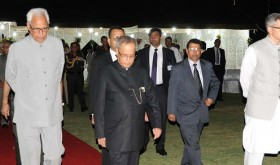 The President of India, the Governor and the CM J&K at the AT HOME Function