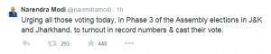 Modi Tweet, Phase 3 Assembly Elections