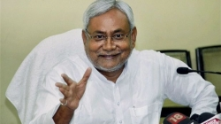 Nitish Kumar goes knocking on doors as assembly polls loom