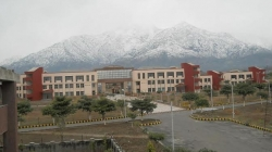 Fresh snowfall at Trikuta hills, a view from Shri Mata Vaishno Devi University