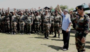 PHOTOGRAPHS OF VISIT OF DEFENCE MINISTER  (21)