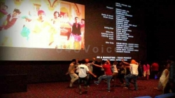 CJ Pic: Jammuites dancing on the beats of the recently release movie Sardarji in Wave Cinemas Jammu