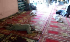 People napping in historical Jama Masjid during holy month Ramadan on Monday
