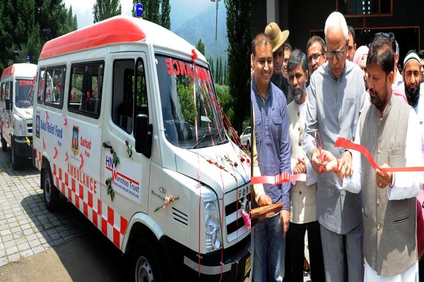 GOVERNOR LAUNCHING  AMBULANCE SERVICE AT SKICC