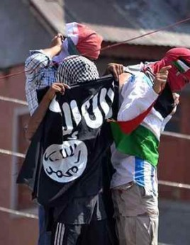 ISIS flags spotted in Srinagar city
