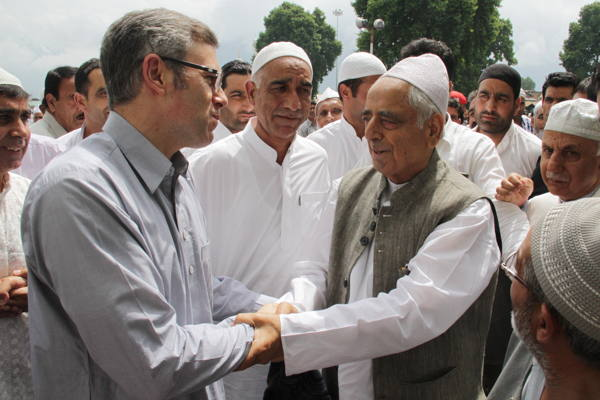 Jammu Kashmir News | After offering nimaz, Mufti Sayeed interacted with people and shared Eid greetings and extended good wishes to them.