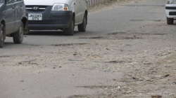 The Narwal By-Pass road near Div Com office – A disaster for vehicles