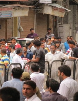 Clashes witnessed between protesters and Police on Day 2 of Jammu shutdown in Indra Chowk