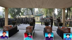 Tributes paid to martyred soldiers who had laid down their lives in Kupwara