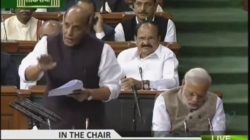 Did PM Modi sleep or is it a campaign to malign his image?