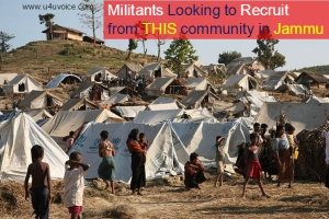 Jammu Kashmir | With Rohingya Muslim refugees settling down in Jammu there is increased fear of their recruitment by terror outfits in Valley.