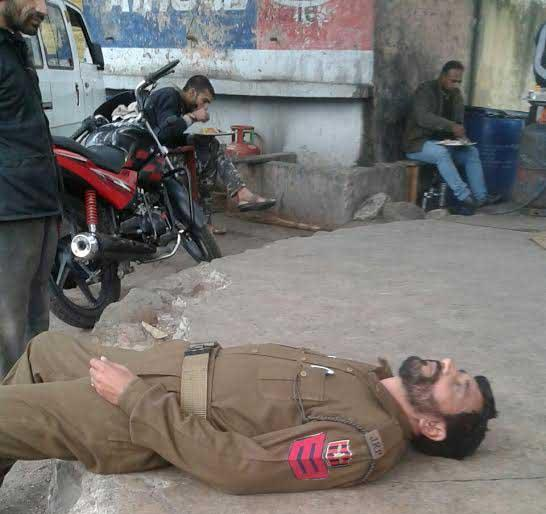 Cop Photo Goes Viral: Inebriated Reasi Cop Goes Viral On Social Media