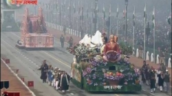 Jammu and Kashmir Tableaux at 67th Republic Day