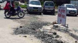 Bad roads conditions harass commuters