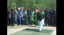 Watch: Omar Abdullah's skills with the bat