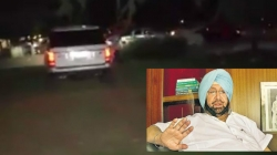 Bottles hurled at Captain Amarinder Singh